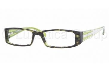 Vogue VO 2573 Eyeglasses Styles - Green Havana Frame w/Non-Rx 50 mm Diameter Lenses, 1612-5016