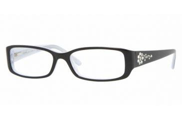 Vogue VO 2594B Eyeglasses Styles - Black-White Striped Frame w/Non-Rx 49 mm Diameter Lenses, 1455-4915
