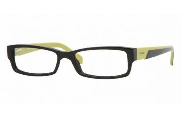 Vogue VO 2644 Eyeglasses w/ 1823 Black Frame and Non-Rx 51 mm Diameter Lenses, 1823-5116