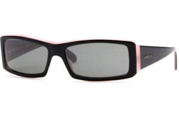 Vogue Sunglasses VO2419S - Black Top On Pink Frame w/ Gray Lens