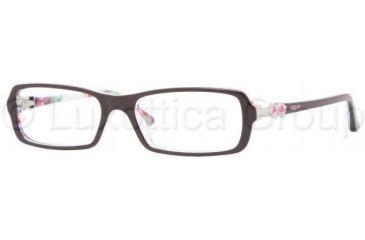 Vogue VO2673 Single Vision Prescription Eyewear 1882-5016 - Top Plum/Flowers Trans