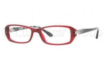 Vogue VO2709B Eyeglass Frames W905-5216 - Transparent / Red Frame, Demo Lens Lenses