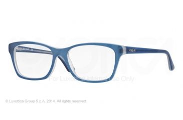 Vogue VO2714 Prescription Eyeglasses 2171S-52 - Top Matte Blue Transp Frame