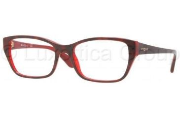Vogue VO2715 Progressive Prescription Eyeglasses 1942-5218 - Top Havana On Red Frame