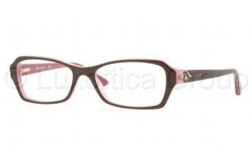Vogue VO2738B Bifocal Prescription Eyeglasses 1941-5216 - Top Brown On Pink Frame, Demo Lens Lenses
