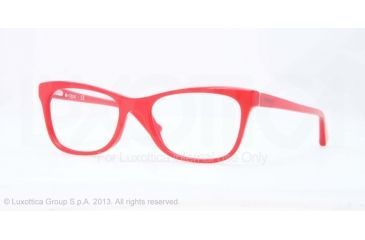 Vogue VO2763 Bifocal Prescription Eyeglasses 2135-51 - Top Crystal On Pearl Red Frame
