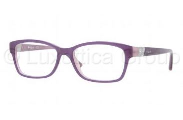 Vogue VO2765B Bifocal Prescription Eyeglasses 1312-5116 - Top Violet/Opal Pink Frame, Demo Lens Lenses