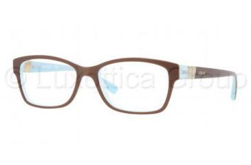 Vogue VO2765B Single Vision Prescription Eyeglasses 2011-5116 - Top Light Brown/Opal Frame, Demo Lens Lenses