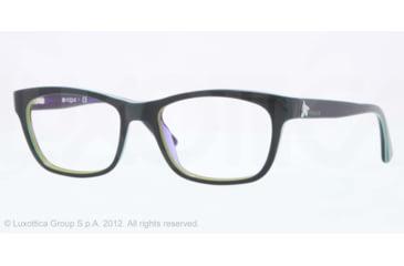 Vogue VO2767 Eyeglass Frames 1989-50 - Top Petroleum Green/Violet Tr