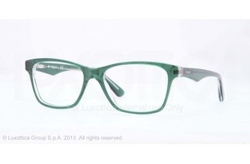 Vogue VO2787 Bifocal Prescription Eyeglasses 2169-51 - Top Green/transparent Frame