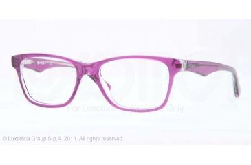 Vogue VO2787 Bifocal Prescription Eyeglasses 2170-51 - Top Violet/transparent Frame