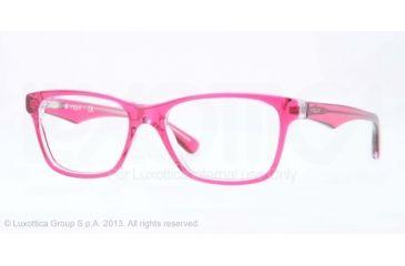 Vogue VO2787 Bifocal Prescription Eyeglasses 2172-51 - Top Fuxia/transparent Frame