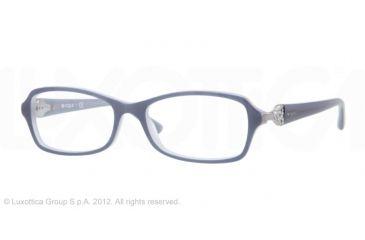 Vogue VO2789B Progressive Prescription Eyeglasses 1532-52 - Top Opal Blue/Ice