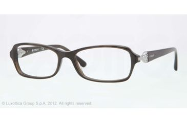 Vogue VO2789B Progressive Prescription Eyeglasses 2129-52 - Green Smoke Frame, Demo Lens Lenses