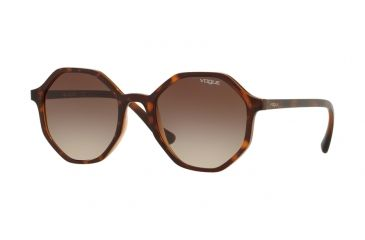 580329f29b Vogue VO5222S Sunglasses 238613-52 - Dark Havana light Brown Transp Frame