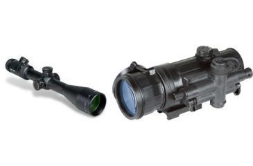 Vortex Viper PST 4-16x50 FFP Riflescope with EBR-1 MRAD Reticle and Armasight Co-mr-qs Night Vision Medium Range Clip-on System Quicksilver White Phosphor Generation 2+ w/adapter #4