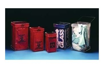 VWR Acrylic Waste Containers WB-500WH Floor Models Tall Waste Box Holder With Wheels