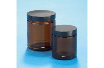 VWR Amber Glass Jars, Wide Mouth VW5421689C26 Bulk Packs With Unattached Caps In Bags