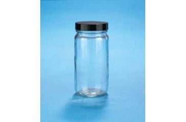 VWR Standard Bottles, Clear, Wide Mouth VW5310448V21 Convenience Packs With Caps Attached