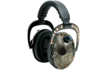 Walkers Power Muffs with AFT Electronic Ear Muffs, Real Tree GWP-PMRT