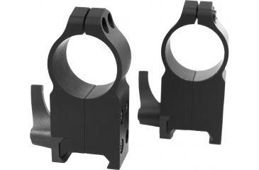 Warne 1in Quick Detach AR15 Flat Top Riflescope Rings, Ultra High Profile, Matte Black A204LM