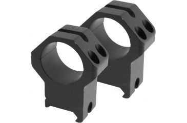 Weaver 1in Four Hole Skeleton Riflescope Rings, 2X High, Matte Black - 48363