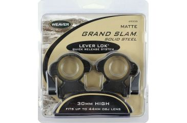 Weaver 30mm Lever-Lok Riflescope Rings, High, Matte 49335