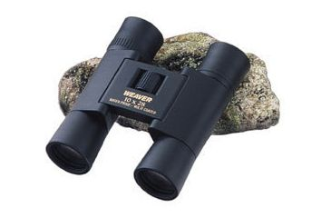 Weaver 849434 Classic 10x24 mm Compact Matte Black Rubber Roof-Prism Binoculars