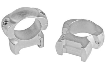 Weaver Cross Lock Riflescope Rings, 1in, X-High, Silver 49323