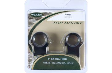 Weaver Detachable Top Mount Riflescope Rings, Matte Black, X-High 49080