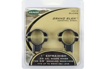 Weaver Grand Slam Steel Rings, Extra High, Black 49218