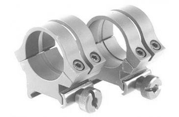 Weaver Rings Quad-Lock, 1in. High gh, Extended Silver