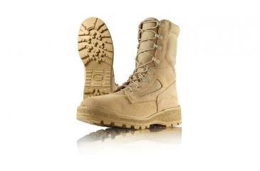 Wellco T114 Temperate Weather Army Combat Boots, Tan, 4.0 Regular