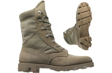 1-Wellco T130 Military Boots - Tan Hot Weather Army Combat Boot