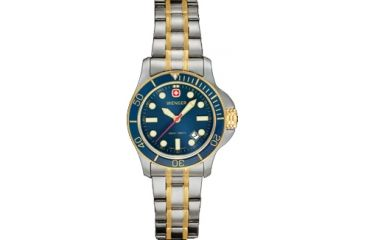 Wenger Battalion III Diver Ladies Blue Dial with Bi Color Bracelet 72336