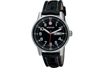 Wenger Commando Day-Date Men's Black Dial and Black Strap 70164