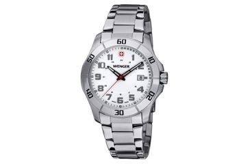 Wenger Mens Alpine  Sport Watch w/ White dial bi color bracelet 70489