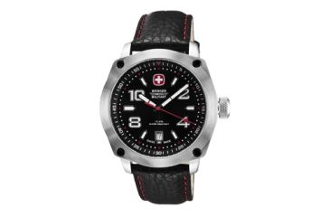 Wenger Mens Outback Sport Watch w/ Black and Red dial/black Leather strap 79373