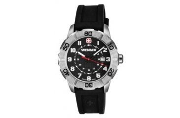 Wenger Mens Roadster Sport Watch w/ Black Dial, Black Rubber Strap 851.101