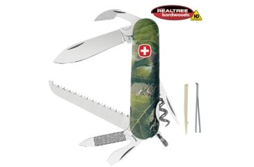 Wenger Realtree Hardwoods HD 13 Swiss Army Knife, Green Camo 16852