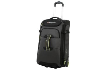 Wenger Terrian Crossing 21in rolling backpack, Grey w/ Lime 12497