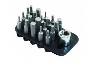 1-Wheeler Fine Gunsmith Equipment 21 Piece Add On Screwdriver Bit Set