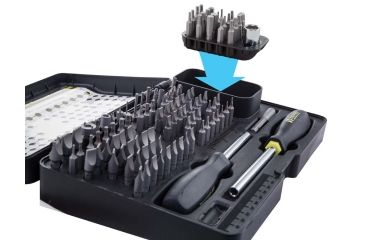 2-Wheeler Fine Gunsmith Equipment 21 Piece Add On Screwdriver Bit Set