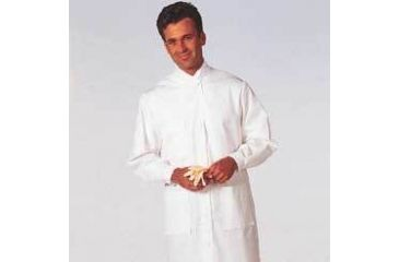 White Swan Unisex MetaGuard Lab Coats, White Swan/Meta 1165-311-S Knit Cuffs And Open Neck