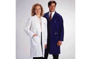 White Swan Unisex Polyester/Cotton Lab Coats, White Swan-Meta 6116-11-L