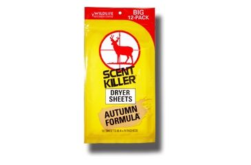 Wildlife Research Center Scent Killer Autumn Fomula Dryer Sheets, 12-Pack 580