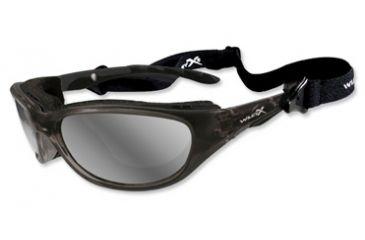 Wiley-X Air Rage Sunglasses - Polarized Silver Flash Lens/ Crystal Metallic Frame 697