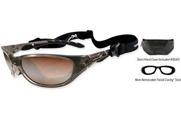 Wiley-X Air Rage Sunglasses - Bronze Flash Lens/ Crystal Bronze Frame 695
