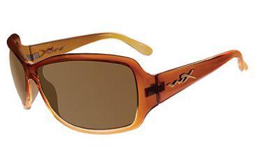 Wiley X Ashley Sun Glasses, Gloss Brown Fade Frame w/ Bronze Brown