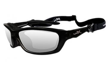 Wiley X Brick Sunglasses - Clear/Gloss Black Frame 853